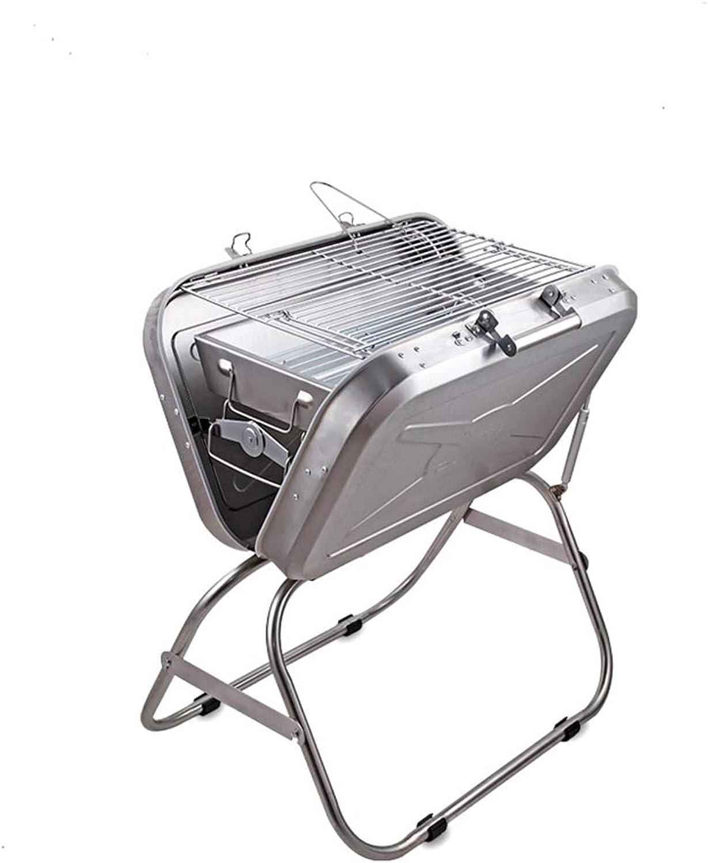 ILUVBBQ Outdoor BBQ Grill Tragbarer Grillkoffer-Grill-Edelstahl-Klappgrill