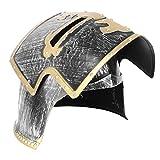 VALICLUD Casco de Guerrero Soldado Caballero Medieval con Cubierta Facial Plegable para Niños Juego de Batalla Cosplay de Halloween para Juego de Batalla