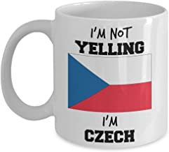 Czech Pride Mug - I'm Not Yelling I'm Czech - Czech Mom or Czech Dad Gift - For People with Czech Family - Funny Czech Rep...
