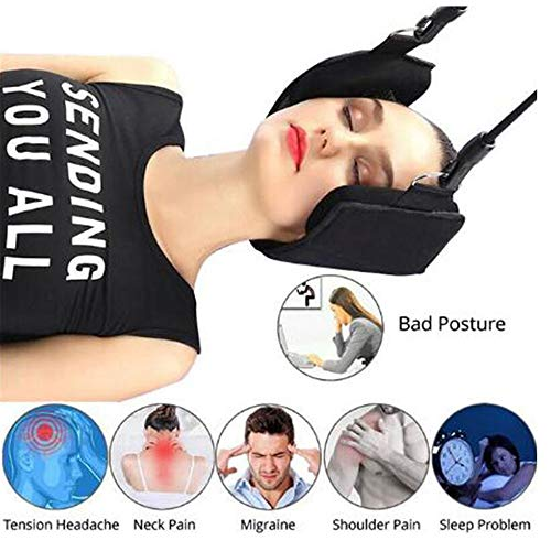 WanZhuanK Neck Hammock,Portable Head Hammock Cervical Device. for chronic neck shoulder pain relief For spa, office, gym, home