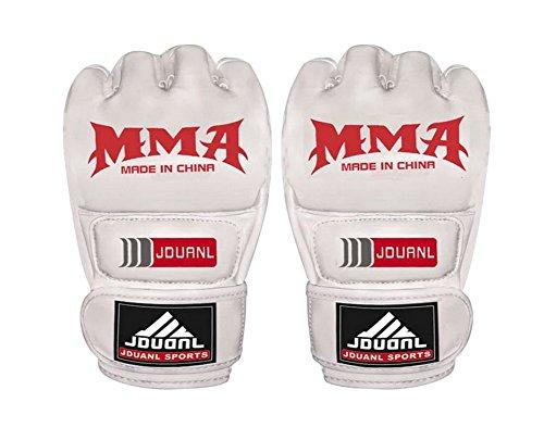 BLANCHO BEDDING Mitaines de Boxe Adultes MMA poinçonnage Gants de Formation pour Le Kickboxing Muay Thai, Blanc