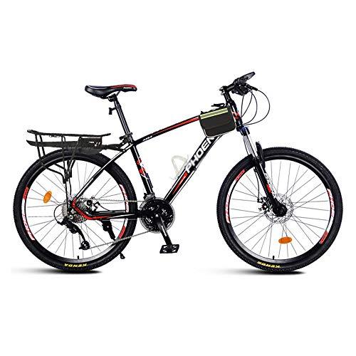 Bicicleta, Bicicleta de Montaña Shock, Bicicleta Todoterreno de 26 Pulgadas Y 27 Velocidades, Freno de Disco Doble, Cuadro de AleacióN de Aluminio, para Mujeres O Hombres/A / 168x95cm