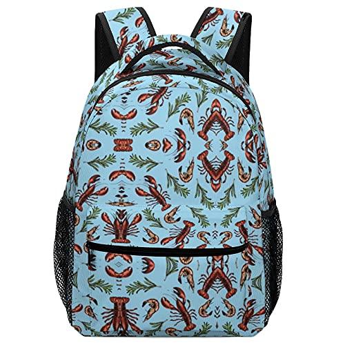 Carino impermeabile leggero per bambini borse per studenti zaini stampa Seagrass Marine Lobster regali di Natale regali di Halloween Young Elementary High Middle Primary School School Bookbag