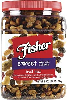 Fisher Sweet Nut Trail Mix 38 oz Container