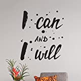 Mur Citation Motivational Home Wall Decor Vinyle Autocollant Decal Mural Art Inspire I Can and I Will