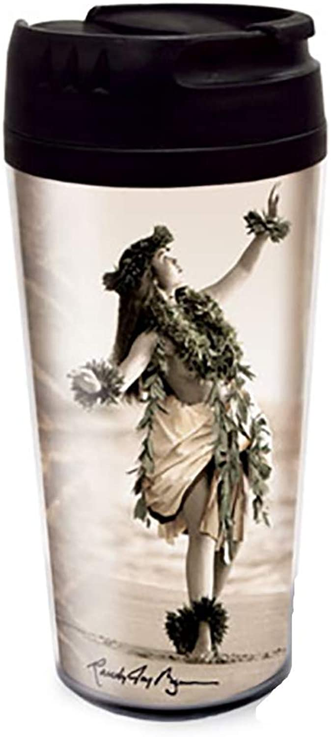 Randy Jay brown Hawaii Thermal Travel Tumbler Coffee Mug by Welcome to the Islands