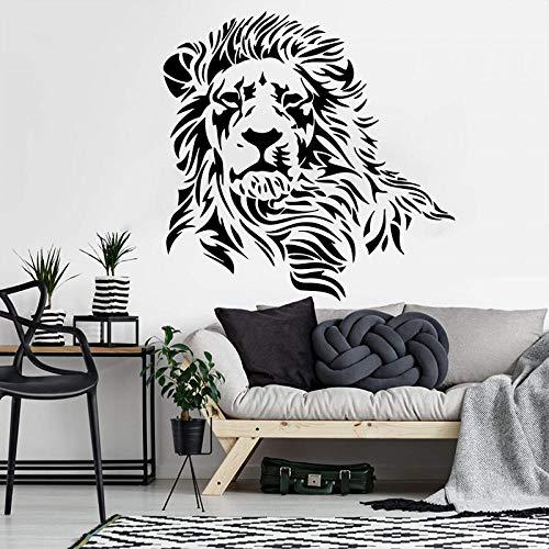 León África Animal etiqueta de la pared dormitorio habitación de los niños depredador Animal Tribal Zoo calcomanía decoración del hogar, 56 cm * 56 cm