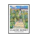 HJKLP Poster De La ExposicióN De Monet Claude Monet Arte De La Pared Paisaje IdíLico Pintura Impresi...