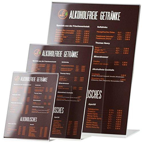 kaufdeinschild A3 Hochformat L-Ständer Acrylaufsteller Werbeaufsteller Prospektständer L-Aufsteller Tischaufsteller