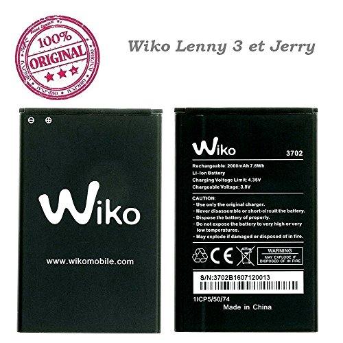 Flexiphone Batterie Neu Wiko 2000 MAH 7,6 WH 3,8V Art 3702 für Wiko Lenny 3 und Jerry