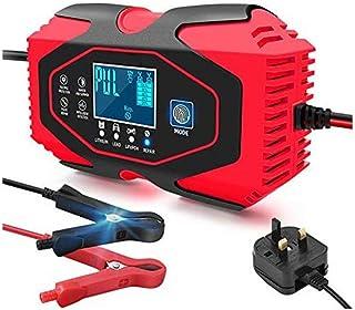 Pulse Intelligent batteriladdare för bil 24/12V automatisk stoppladdningsfunktion med LED-skärm (röd)