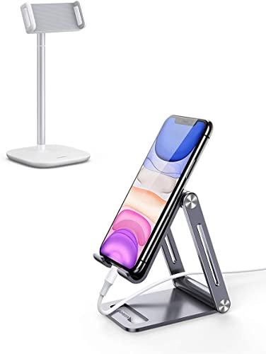 new arrival UGREEN Tablet Stand Compatible for iPad with Aluminum Phone Stand Bundle Holder Desk Adjustable Compatible for New iPad, iPad Mini 4 3 outlet sale 2, Nintendo Switch, Samsung 2021 Galaxy Tab A, E-Book Reader online sale