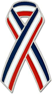 American Flag Red White Blue Awareness Ribbon Patriotic Lapel Pin