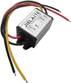 ACAMPTAR Regolatore del convertitore di potenza da 12V a 5V 3A 15W Passo Giu Impermeabile Voltaggio Convertire Trasformatore Connettore Cavo Auto Caricabatterie 1 USB