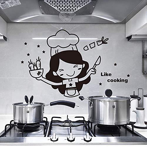 MXLYR Pegatinas de pared Cocina Interruptor de luz Pegatinas Lindo Chef Vinilo Decoración de la pared Pegatinas Mural Mariposa creativa Pegatinas de pared 3D Decoraciones para el hogar
