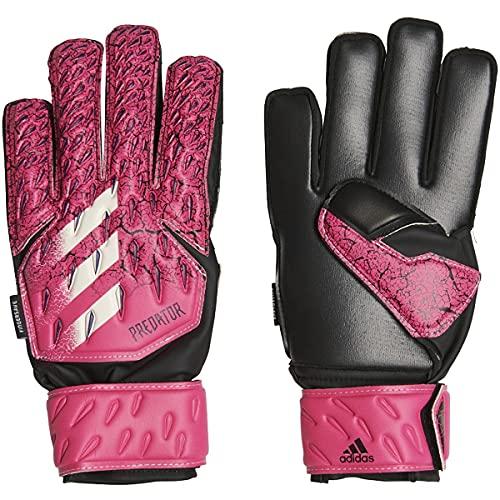 adidas Predator Match Fingersave Glove,Shock Pink/Collegiate Purple/Black/White,5 (unisex-child) Youth