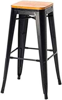 Galvanized Counter Height Metal Bar Stools |Industrial Stool for Bars, Bistro Patio Best Home Garden Chairs | Indoor Outdo...