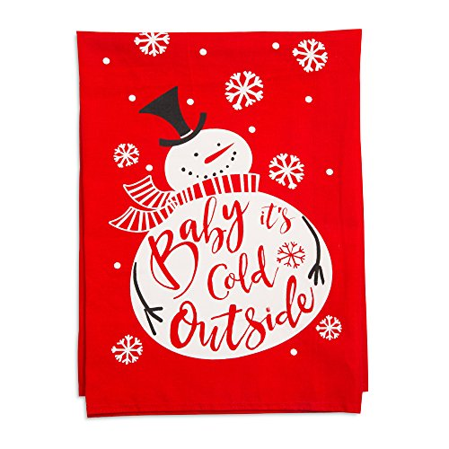 Holiday Hoopla 81545 Baby It's Cold Outside Christmas - Strofinaccio, colore: rosso