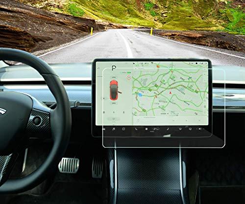 Topfit Tesla Model 3 Displayschutzfolie aus gehärtetem Glas für Tesla Modell 3, 9H, Kratzfest und stoßfest (HD)
