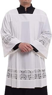 Catholic Pleated Lace Surplice Liturgical Cotta Vestment
