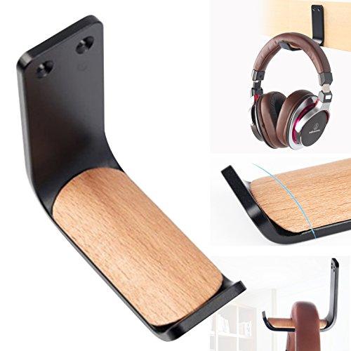 Kopfhörer-Halterung zum Aufkleben, selbstklebende Haken, Unterschreibtisch-Kopfhörer-Ständer, Headset-Kleiderhalterung, MeetRade Aluminium, Wandhalterung, Haken für Kopfhörer und Schreibtisch