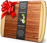 Greener Chef Extra Large Bamboo Cutting Board - Lifetime Replacement Cutting Boards for Kitchen - 18 x 12.5...