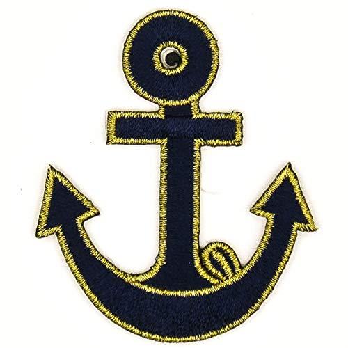 Aufnäher zum Aufbügeln, Marineblau, mit Anker-Motiv, zum Aufbügeln, für Hochzeit, Geschenk, Taschen, handgefertigt, süße Jacke, T-Shirts, Jeans, Taschen, Hüte, Abzeichen, Seemann, Boot, Spüle Anker#12