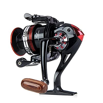 Jiam Premium Professional Lightweight 12+1 BB Ball Bearing Saltwater/Freshwater Sea Coast Handle Fishing Spinning Reel Left/Right Interchangeable Collapsible Rocker Arm 5.2:1 LK2000 from Jiam