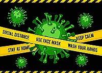 写真のための新しいウイルスの背景250×180cmビート感染症の背景パーティーの装飾用品写真撮影の小道具182