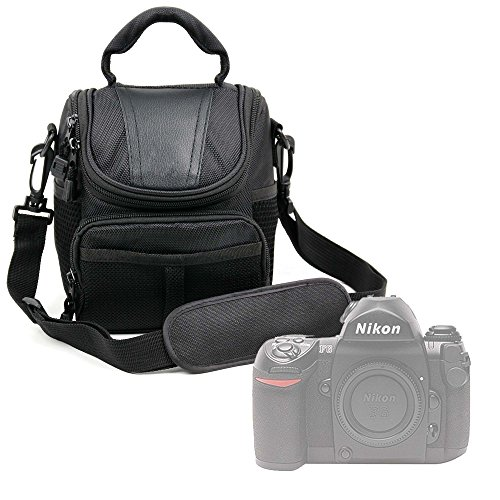 DURAGADGET Bolso para Cámara Nikon FAA410NA | N1 AW1 | Olympus E-PL7 (1442) | Zenit E Cámara - con Asa Y Bandolera De Transporte - Compartimentos para la cámara fotográfica Accesorios