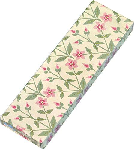 Gefährlich schön Bleistifte in Geschenkschachtel - Motiv Rosa Blume: 6 Bleistifte mit Radiergummi, 3 Motive
