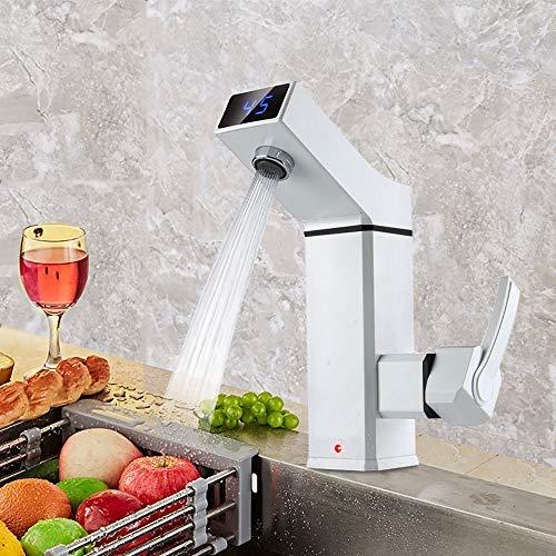 Elektrischer Wasserhahn Durchlauferhitzer HaroldDol 3000W Sofortiger Waschtischarmatur Spültisch für Küche und Bad