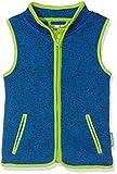 Playshoes Strickfleece-Weste mit Kontrastnähten, Oeko-Tex Standard 100 Capo d'Abbigliamento, Blu (Blau 7), 80 Mädchen