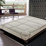 ARONTIME Colchón doble plegable cálido, cama doble de espuma gruesa, alivio de presión ortopédico con soporte para el dolor de espalda (120 x 200 cm)