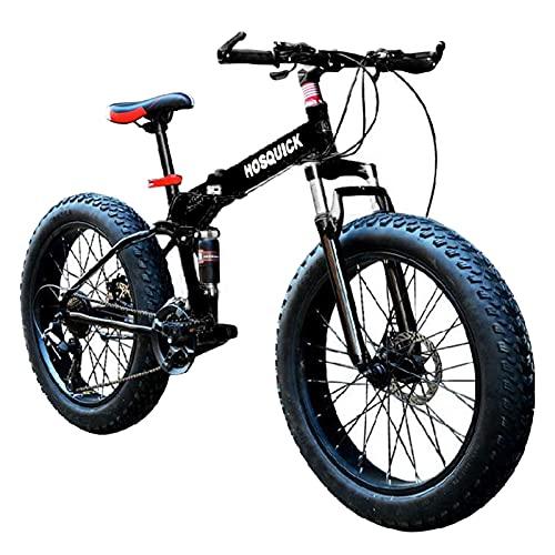 20-26 pulgadas rueda bicicletas de montaña, bicicleta adultos tire de grasa nevada negro 7-30 velocidades engranajes montaña sendero bicicleta de acero alto-carbono marco doble suspensión doble dual d