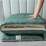 pieghevole roll up materasso, materasso per pavimenti giapponesi futon tatami materassino letto materasso per pavimento,verde,90x200cm