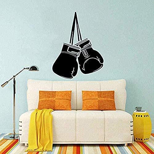 Kreatives Design Coolste Boxhandschuh Dekor Home und Gym Wandaufkleber für Wohnzimmer PVC abnehmbare Wandkunst Aufkleber Home Decor 48X63Cm