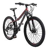 BIKESTAR VTT en Aluminium, Frein à Disque, 21 Vitesses Shimano, 26 Pouces | Mountainbike Suspension...