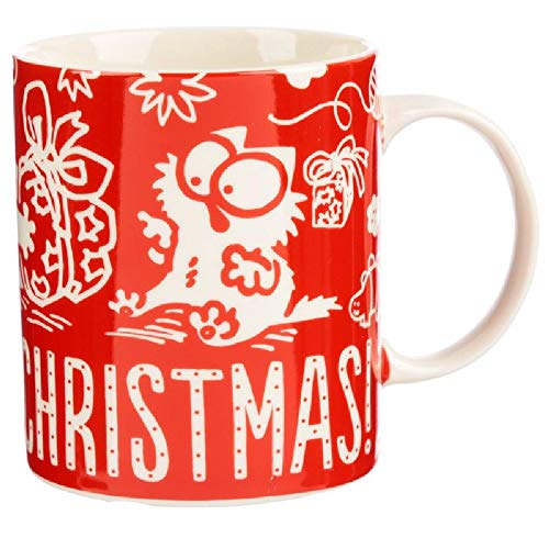 Puckator Tasse Weihnachten Frühstück Weihnachten - Simons Cat - Meowy Christmas