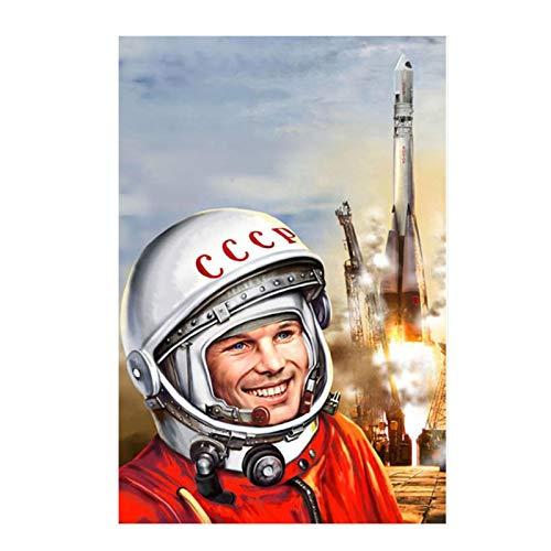 Ignite Wander Poster und Drucke Space Heroes Yuri Gagarin Leinwand Kunst Gemälde für Wohnzimmer Home Decor -50x75 cm No Frame 1PCS