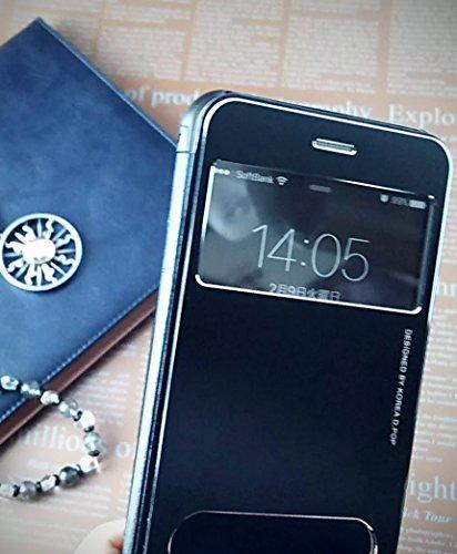 『isp iPhone 6 Plus / 6s Plus 開閉式 スリーブケース + ispロゴ入りオリジナルクロスセット ブラック』の5枚目の画像