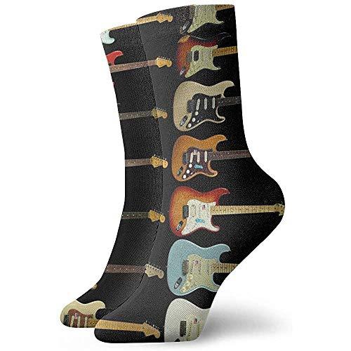 Tammy Jear Mujeres Hombres Moda Novedad Calcetines altos de guitarra eléctrica para...