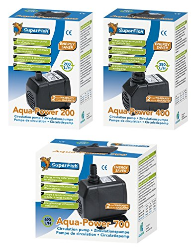 SuperFish SF Aqua-Power Aquarium und Zimmerspringbrunnen-Pumpe, Modell:Aqua P 400