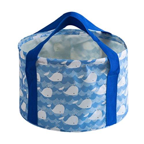 Lavabos de Salle de Bain Plein air Pliant lavabo Voyage Portable Pliant lavabo Voyage en Plein air Sac Pliant (Color : Blue, Size : 31 * 20cm)
