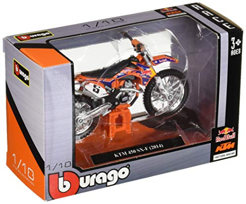Bburago-d Red Bull KTM 450 SX-F (2014) en Escala 1:18 (18-51072), Color Mixto