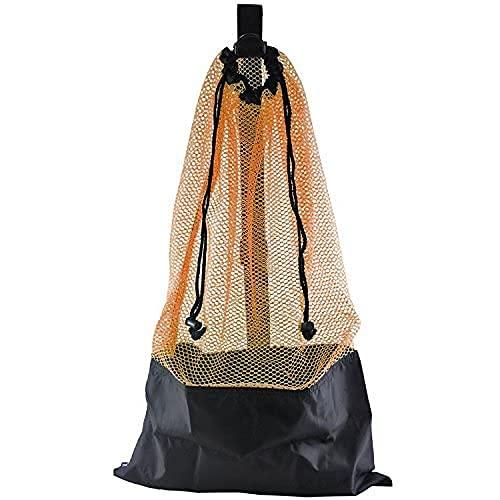 ScubaMax Mesh Bag Draw String w/Shoulder Strap (Orange, One Size)