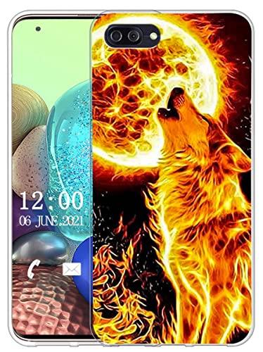 Sunrive Kompatibel mit Ulefone Gemini Pro Hülle Silikon, Transparent Handyhülle Schutzhülle Etui Hülle (X Wolf)+Gratis Universal Eingabestift MEHRWEG