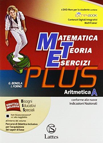Matematica Teoria Esercizi Plus. Aritmetica A + DVD + Tavole numeriche. Mi preparo per l'interrogazione. Quaderno delle Competenze 1. Per la Scuola media: Vol. 1