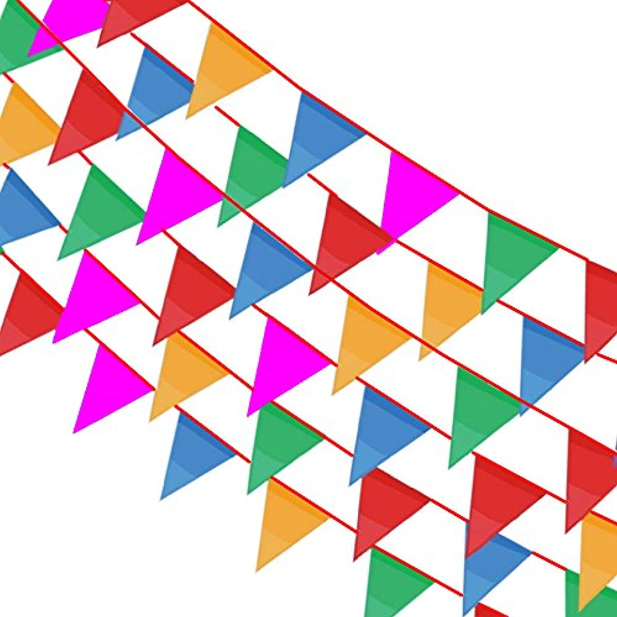BronaGrand 164 Feet Pennant Banner Flags, Multicolor Pennant String Banner 140pcs Bunting Flags for Party, Birthdays, Wedding, Festivals