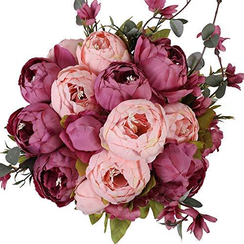 Flores Artificiales Decorativas Largas flores artificiales  Marca Nubry